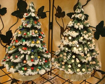Ceramic Christmas Tree in Miniature Just 9 inches High