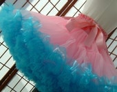 Pettiskirt Pink and Turquoise Size X-Small Custom