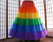 Petticoat Rainbow Floor Length Size XX-Small Custom