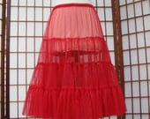 Chiffon Pettislip Red Size Small Custom