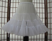 Petticoat Organdy White Size Small Custom