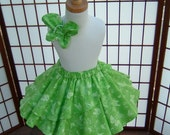 Green Butterfly Beauty Twirl Skirt, Ready to Ship