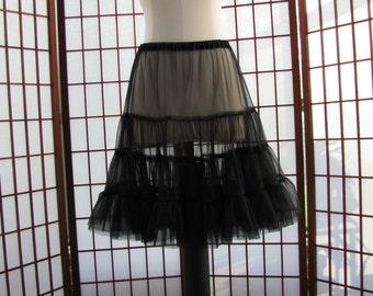 Petticoat Black Chiffon -- Custom Order