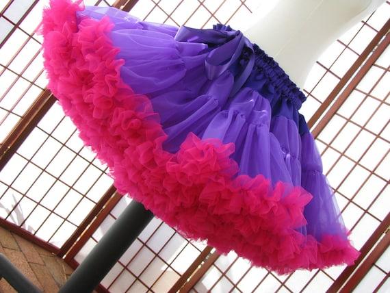 Pettiskirt Purple and Fuchsia Size X-Large Custom