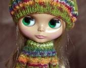 Green/Orange Sweater Set for Blythe ( RESERVED FOR(Tiff. Treasures)