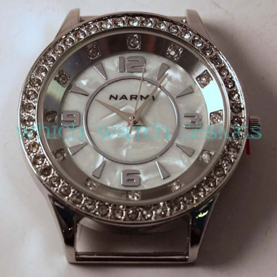Rhinestone Round.. Large Bling, Solid-Bar, Ribbon, Interchangeable Watch Face