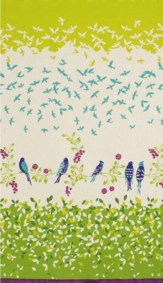 Echino Fabric by Etsuko Furuya, Fall 2009, Bird Song Green, 1 Yard