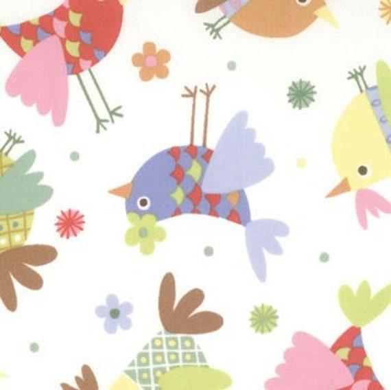 Tweet Tweet Fabric by Keiki for Moda, Tweets, Cloud, 1 Yard