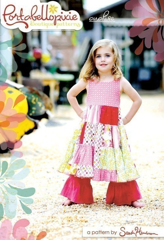 Sandi Henderson Pattern, Portabellopixie Boutique Pattern, Analise, Shipping is free with additional purchase