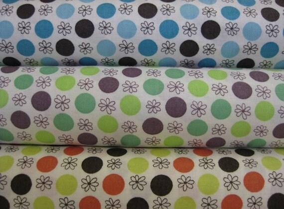 Japanese Import Kei, Yard Set, Daisy Dots, 3 Total