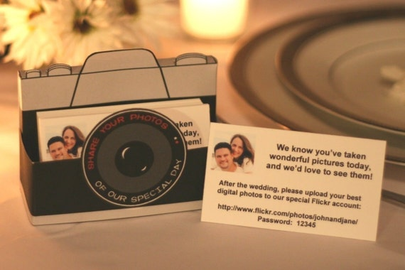 Wedding photo sharing card box kit  (alternative to disposable cameras)