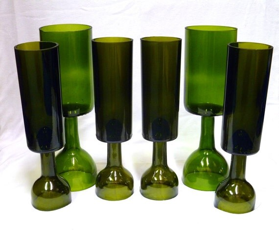Reserved for Kate Coppola - Recycled - Set of Three - Green and Brown