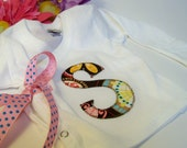 Olive and Maude Original Personalized Hospital Kimono Tee In Carnival Bloom with Bow