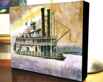 """Riverboat Art """"Riverboat Days"""" Gallery Wrap Canvas Print"""