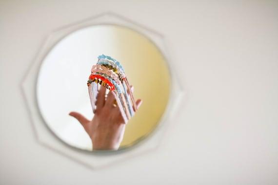 RESERVED smågodis collection: blåbär (mauve version) - a vintage glass beaded necklace by budpnq