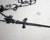 Suite of swords. Tarot necklace.