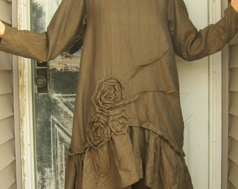 Rose Pintuck Tunic Dress