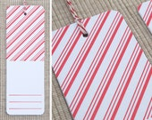 SALE - 6 Peppermint Letterpress Gift Tags - Holiday Tags (Set of 6)