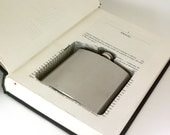 Hollow Book Safe with Flask - The Dark Side
