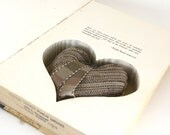 Hollow Book Safe - Anywhere But Here with Heart Cut-Out and Pillow