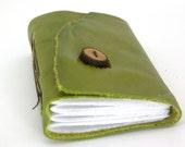 Rustic Apple Wood Leather Journal or Sketchbook (sm)-