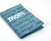 Leather Journal - Notebook  - Refillable - Mom on Blue Suede