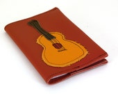 Refillable Leather Notebook - Acoustic Guitar-