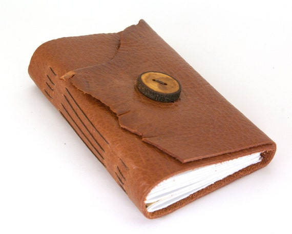 Rustic Toffee - Leather Journal or Sketchbook - Medium Size