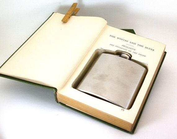 Hollow Book Safe w Flask -  Alexander Dumas Collection (6 oz)