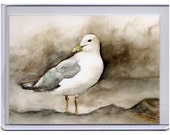 Seagull ACEO reproduction from original watercolour painting