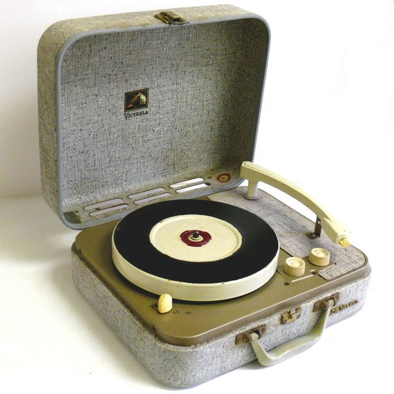 Rca Suitcase Style Portable Record Player By Allunique On Etsy