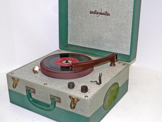 Restored 1955 Portable Record Player with Warranty