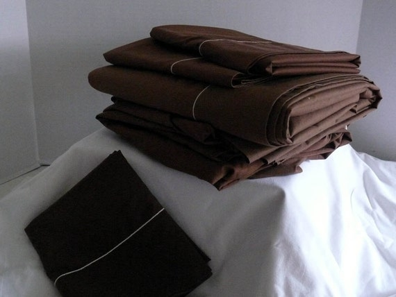 PERCALE King Size Top and Bottom Fitted Sheet Set - Three Pillowcases