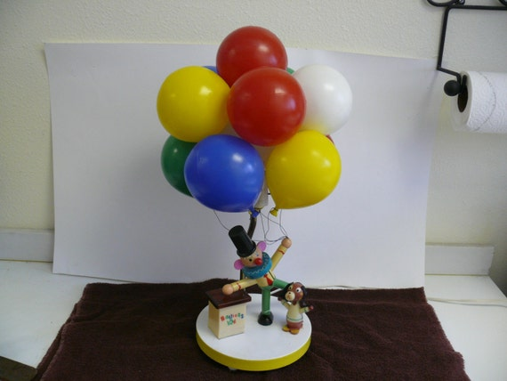 Vintage Children S Clown And Baloon Lamp