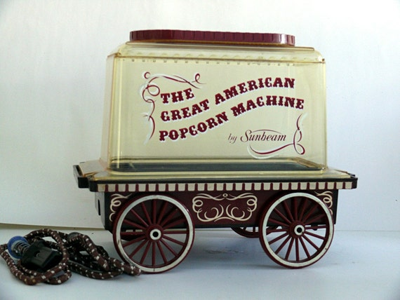 Vintage Popcorn Popper Circus Wagon Sunbeam