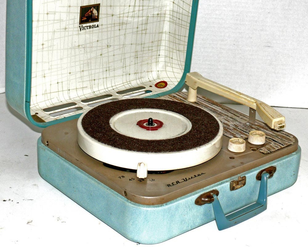 1950s Rca All Speed Portable Record Player