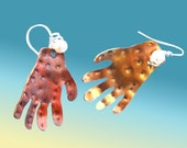 Hands - Handcrafted Copper Earrings