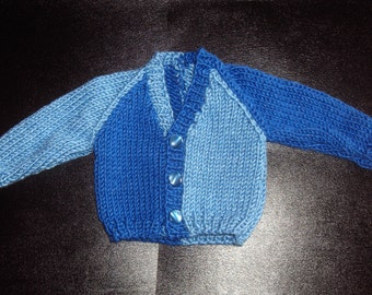 Small Baby V-Neck Sweater Cardigan Knitting Pattern