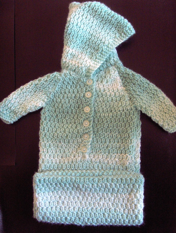 Baby Knitting Patterns Sleeping Bag : Premature Baby Sleeping Bag Knitting Pattern