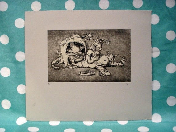 """Monster Print - """"There's a Bird on Your Tail"""" (lg)"""