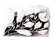 Vine - Original Pen and Ink Drawing
