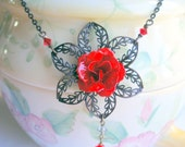A Rose By Any Other Name - Filigree Rose Necklace