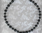 Black Drusy Agate and Druk Bead Necklace Set