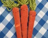 Corduroy Carrots (bunch of 3)