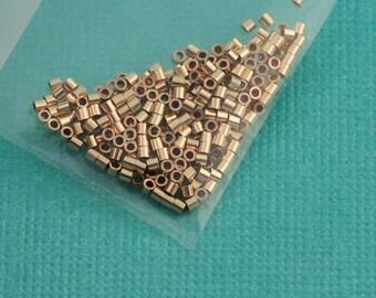 1MMx1MM 14k gold filled Crimp Tube Beads (250)
