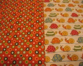 RESERVED for ZOEYBOAT - Turtles and Snails Blanket Set