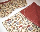 SALE - Gone Camping Hemstitch Blanket and Burp Cloths