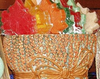 Handmade Sweet Orange Trio Scented Autumn Leaves Soap