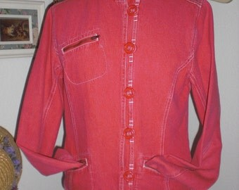 SALE Denim Jacket  in Shabby Soft Red