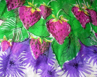 Glentex Silk Berries and Blossoms Scarf